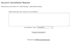 Request Cancellation Form